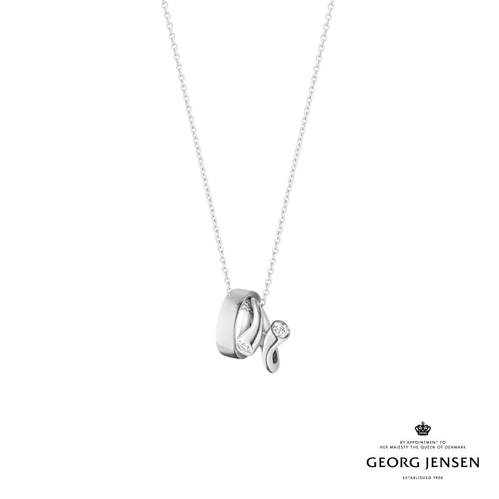Georg Jensen 喬治傑生 MAGIC 18K白金鑽石項鍊