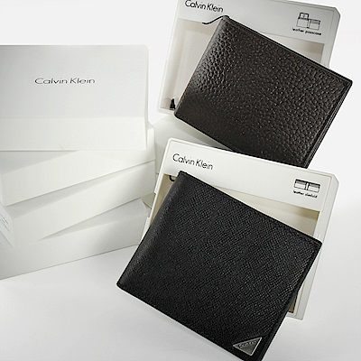 <送禮精選>Calvin Klein RFID 男款短夾禮盒-多款