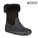 ECCO SOFT 7 TRED L 素面柔軟羊毛運動型雪靴 女-黑