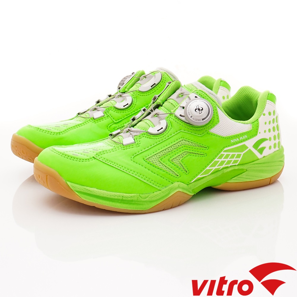 Vitro韓國專業運動品牌-NIVA-FLEX羽球鞋-螢光綠(男)