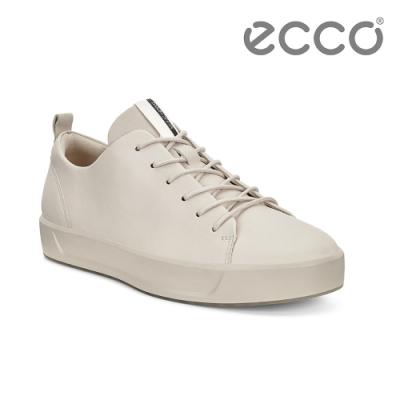 ECCO SOFT 8 W 經典簡約休閒鞋 女-白