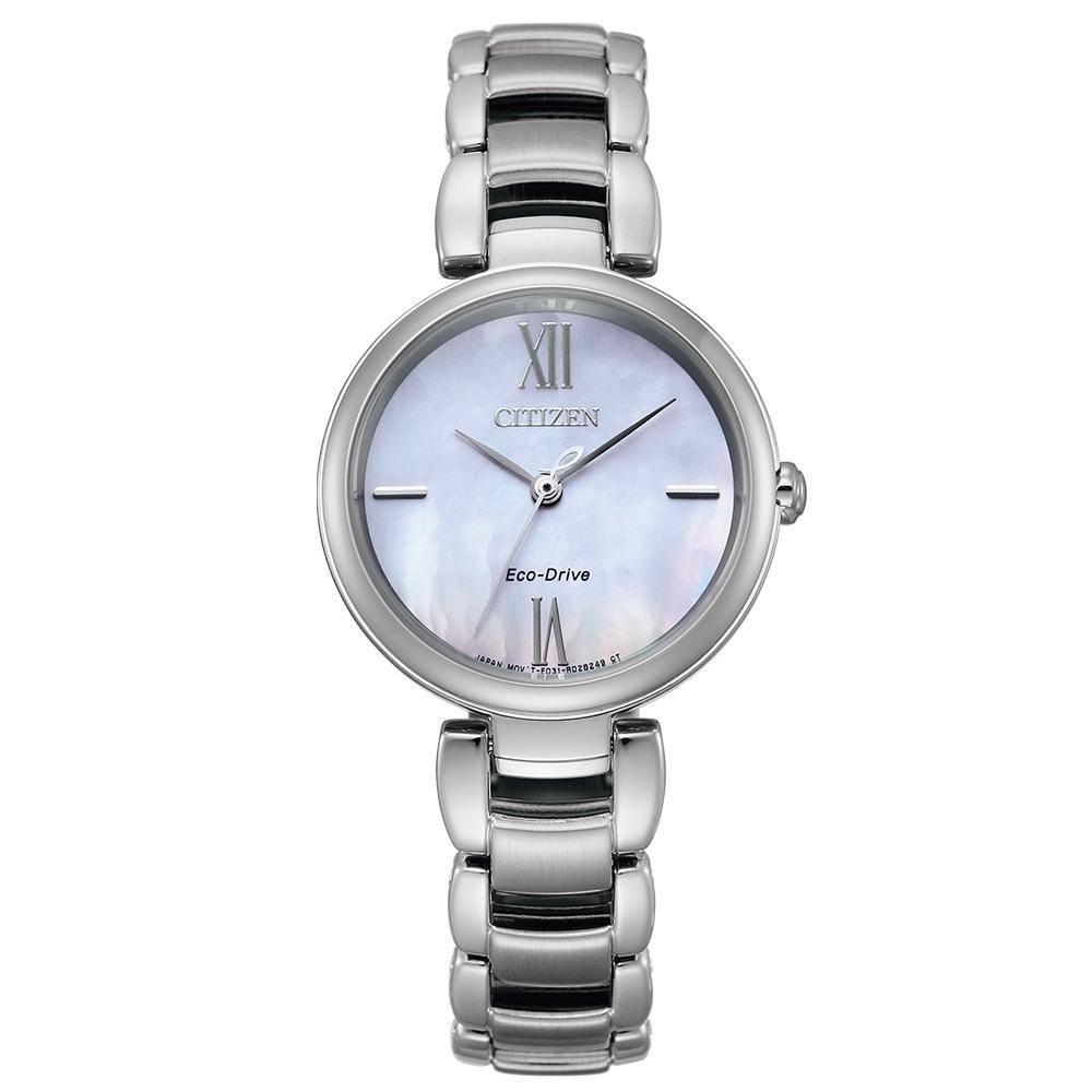 CITIZEN L系列璀璨光動能時尚腕錶EM0530-81Y