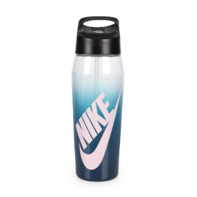 NIKE 32OZ 吸管水壺 透明藍淺粉