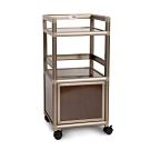 Cabini小飛象-黑桃木得意1.2尺單門鋁合金餐櫃-40.1x41.1x83.6cm