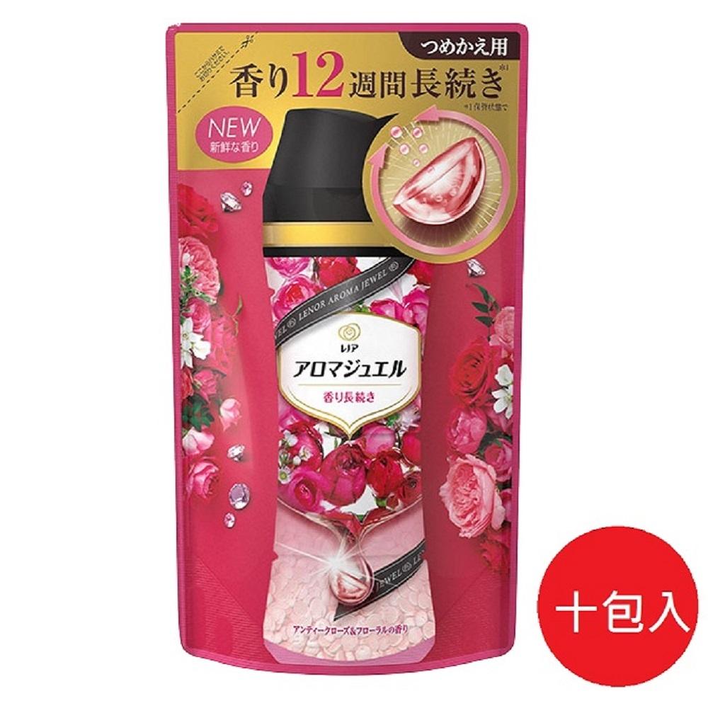 日本【P&G】2021最新版 幸福寶石衣物補充包 香香豆415ml 紅薔薇香*10包