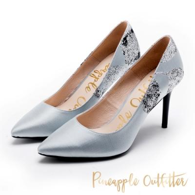 Pineapple Outfitter 仿大理石壓紋 尖頭高跟鞋-灰色