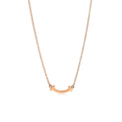 Tiffany&Co. 18K玫瑰金 Smile微笑項鍊(微型)