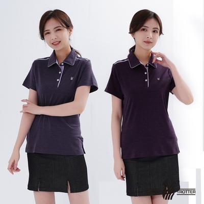 【遊遍天下】兩件組_女款抗UV格紋POLO衫GS1014