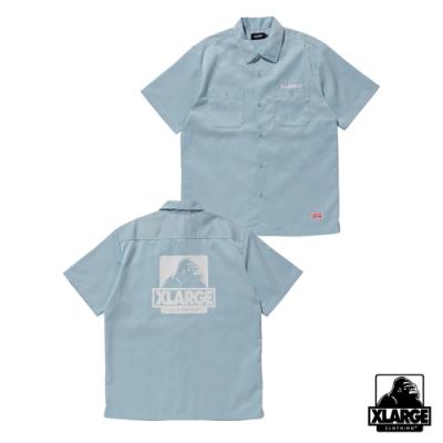 XLARGE S/S OG WORK SHIRT工作襯衫-藍