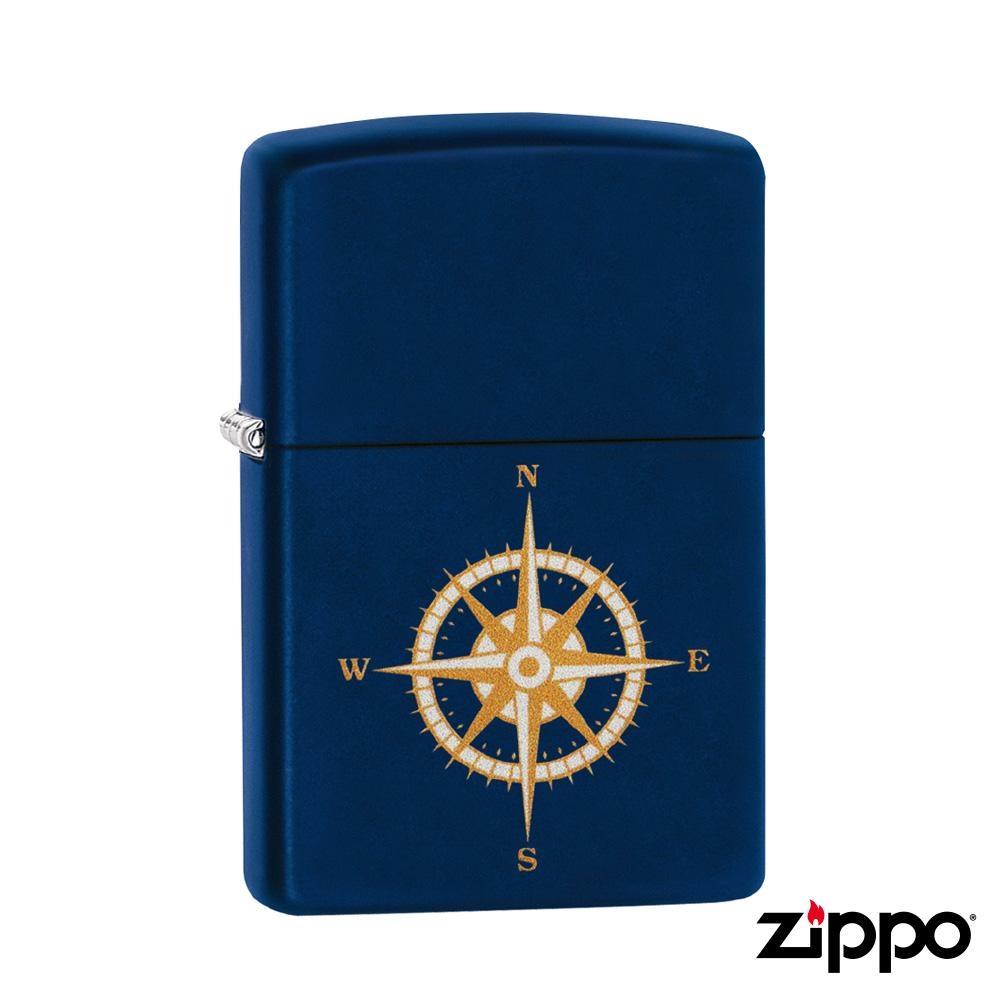 美系Zippo 方向儀-磨砂海軍藍防風打火機#29918