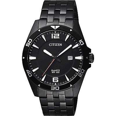 CITIZEN 星辰 時尚紳士石英錶-黑/42mm(BI5055-51E)