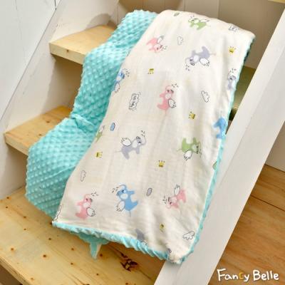 義大利Fancy Belle 乖乖飛象 雙層紗防蹣抗菌吸濕排汗兒童兩用豆豆毯