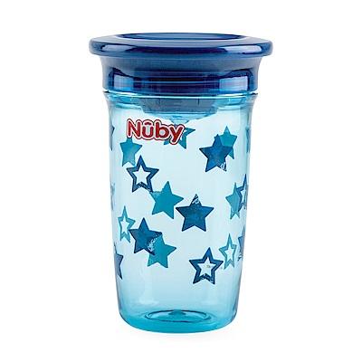Nuby 晶透360度喝水杯300ml_藍星星(12M+)