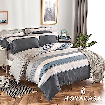 HOYACASA洛可莊園 單人四件式抗菌天絲兩用被床包組