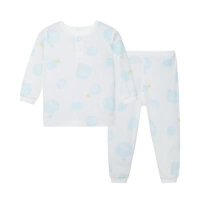 【麗嬰房】Cloudy雲柔系列 植物印花長袖兩粒扣套裝(長袖+長褲組) (76cm~130cm)