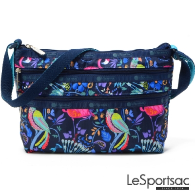 LeSportsac - Standard橫式三層拉鍊斜背包 (熱帶島嶼)