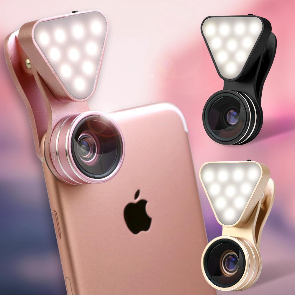 aibo K365X 廣角/微距/補光燈三合一 直播補光美肌鏡頭組