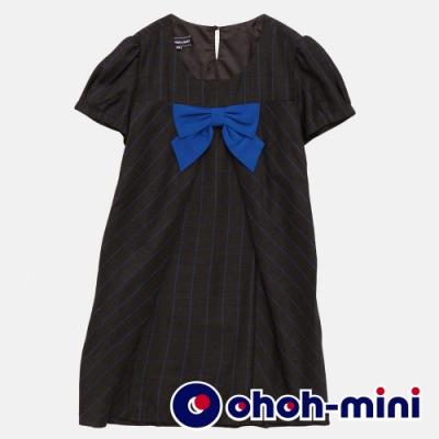 【ohoh-mini 孕哺裝】優雅格紋立體褶襇孕哺洋裝