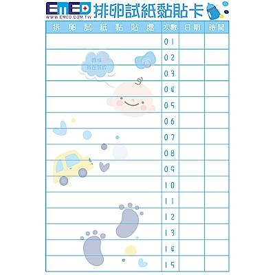 EMED 排卵試紙黏貼卡10入