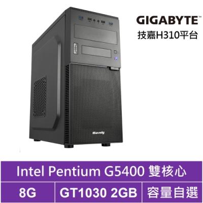 技嘉H310平台[戰鬥精兵]雙核GT1030獨顯電腦