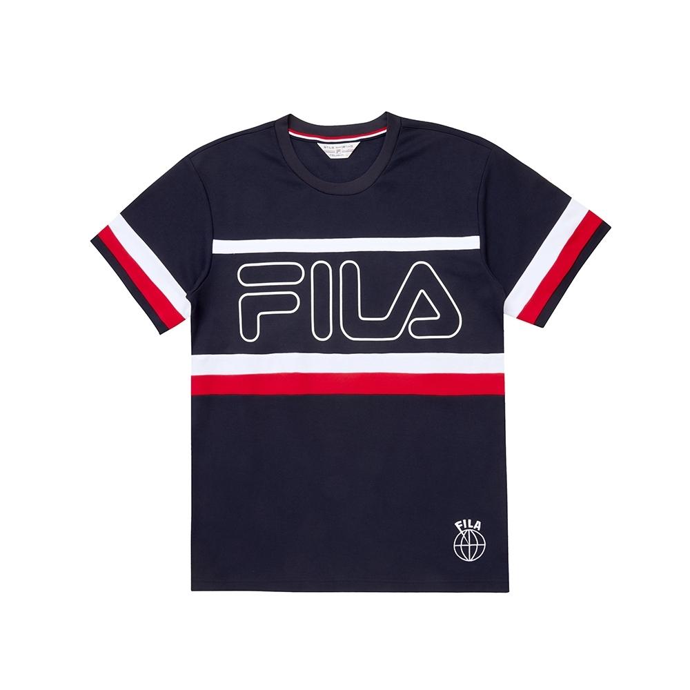 FILA 男圓領T恤-丈青 1TEU-1444-NV