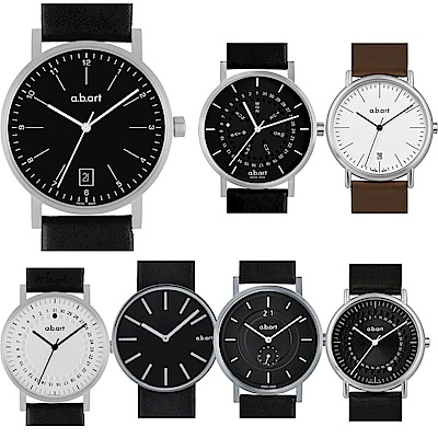 (領券再折700)a.b.art O系列 經典風格日期腕錶-均價6080