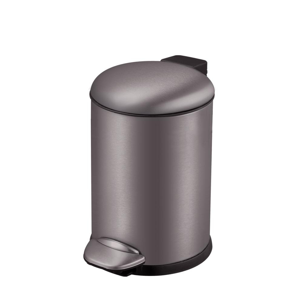 貝拉靜音垃圾桶-3L(鈦金灰)