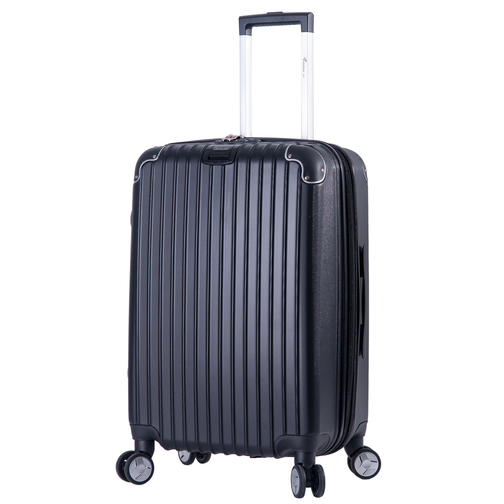 DF travel - 升級版多彩記憶玩色硬殼可加大閃耀鑽石紋24吋行李箱-共8色