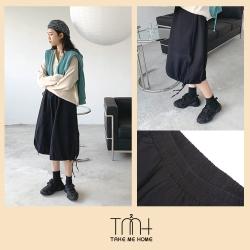 韓國抽繩傘擺裙-TMH