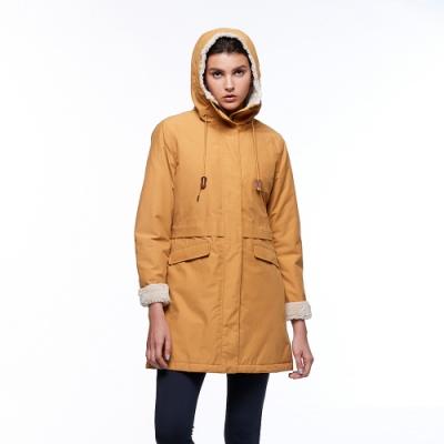 【HAKERS 哈克士】女 防水鋪棉外套(木黃色)