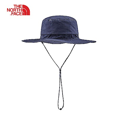 The North Face北面男女款藍色吸濕排汗遮陽帽|CF7TM8U