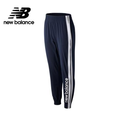 【New Balance】NB DRY 撞色邊條縮口運動長褲_女性_深藍_AWP03133ECL