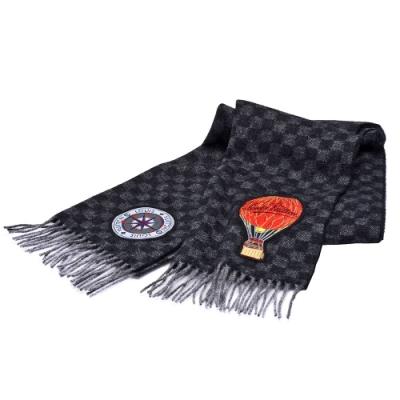 LV M75901經典DAMIER GRAPHITE MAP CITY羊毛圍巾