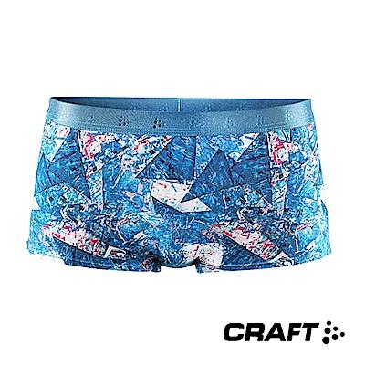CRAFT COOL 排汗四角內褲(女) 印花藍