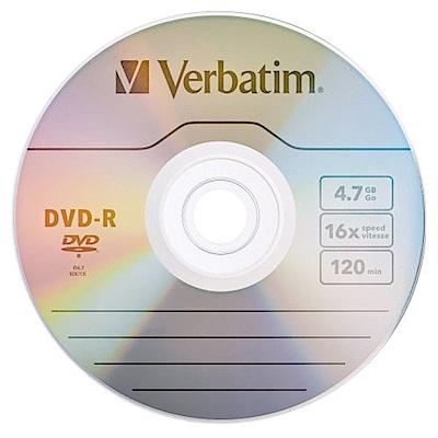 Verbatim 威寶 AZO 銀雀版  16 X DVD-R  4 . 7 GB 燒錄片  100 片