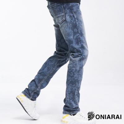 鬼洗 BLUE WAY -鬼洗龍紋類針織705丹寧長褲