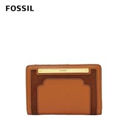 FOSSIL Liza 復古美型麂皮短夾-咖啡色 SL7987249