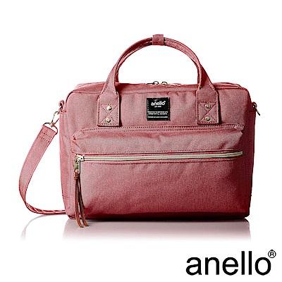 anello 獨特混色花紋手提斜背兩用包 粉紅色 L