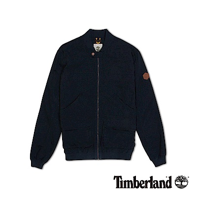 Timberland 男款深寶藍色立領戶外飛行夾克外套|A1DEO