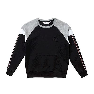 FILA KIDS #東京企劃原宿篇 童圓領T恤-黑 1TES-8421-BK