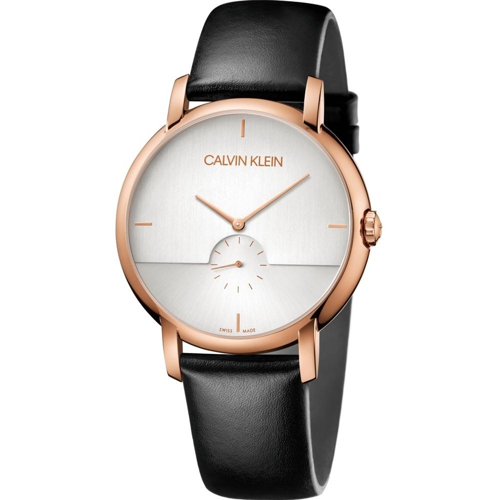 Calvin Klein Established小秒針時尚錶(K9H2X6C6)43mm