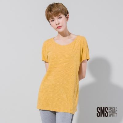 SNS 休閒世代細條花紗質感T恤(2色)
