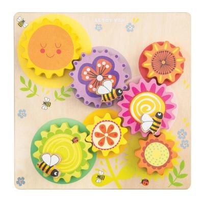 英國 Le Toy Van- Petilou系列啟蒙玩具系列-蜜蜂轉轉齒輪啟蒙玩具