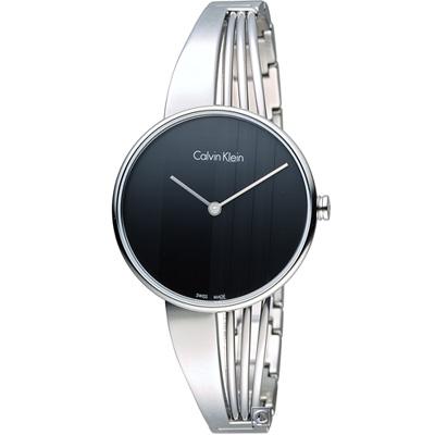 Calvin Klein Drift  印記系列手環式腕錶(K6S2N111)黑