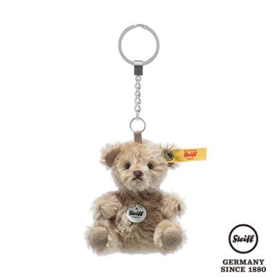 STEIFF德國金耳釦泰迪熊 Mini Teddy Bear Keyring Pendant 咖啡色 (經典羊毛吊飾) 8cm