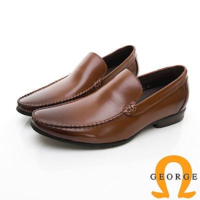 【GEORGE 喬治皮鞋】舒適系列  舒適直套式休閒鞋-咖啡色