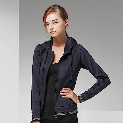 【KENBOO】女款慢跑針織外套-藍