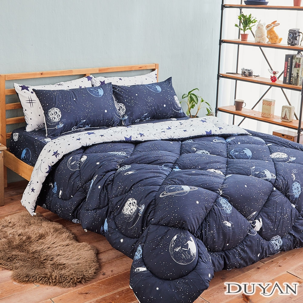 DUYAN竹漾-台灣製雙人床包組+可水洗羽絲絨被-星際大戰