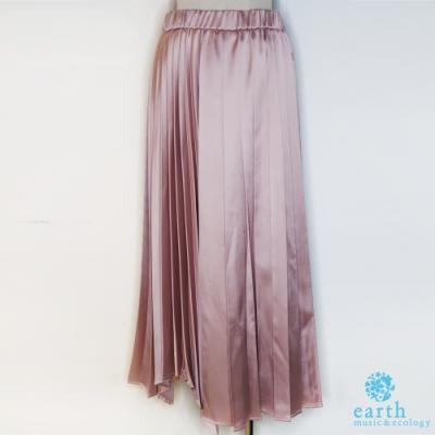 earth music 緞面百褶裙