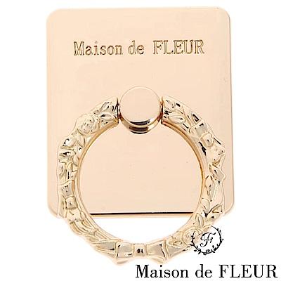 Maison de FLEUR 光澤感簡約手機指環